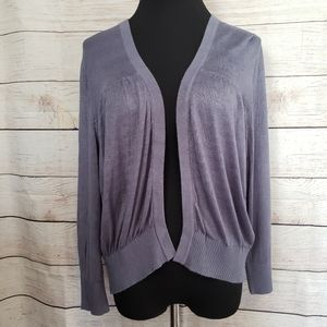 Lane Bryant Slate Blue Cardigan